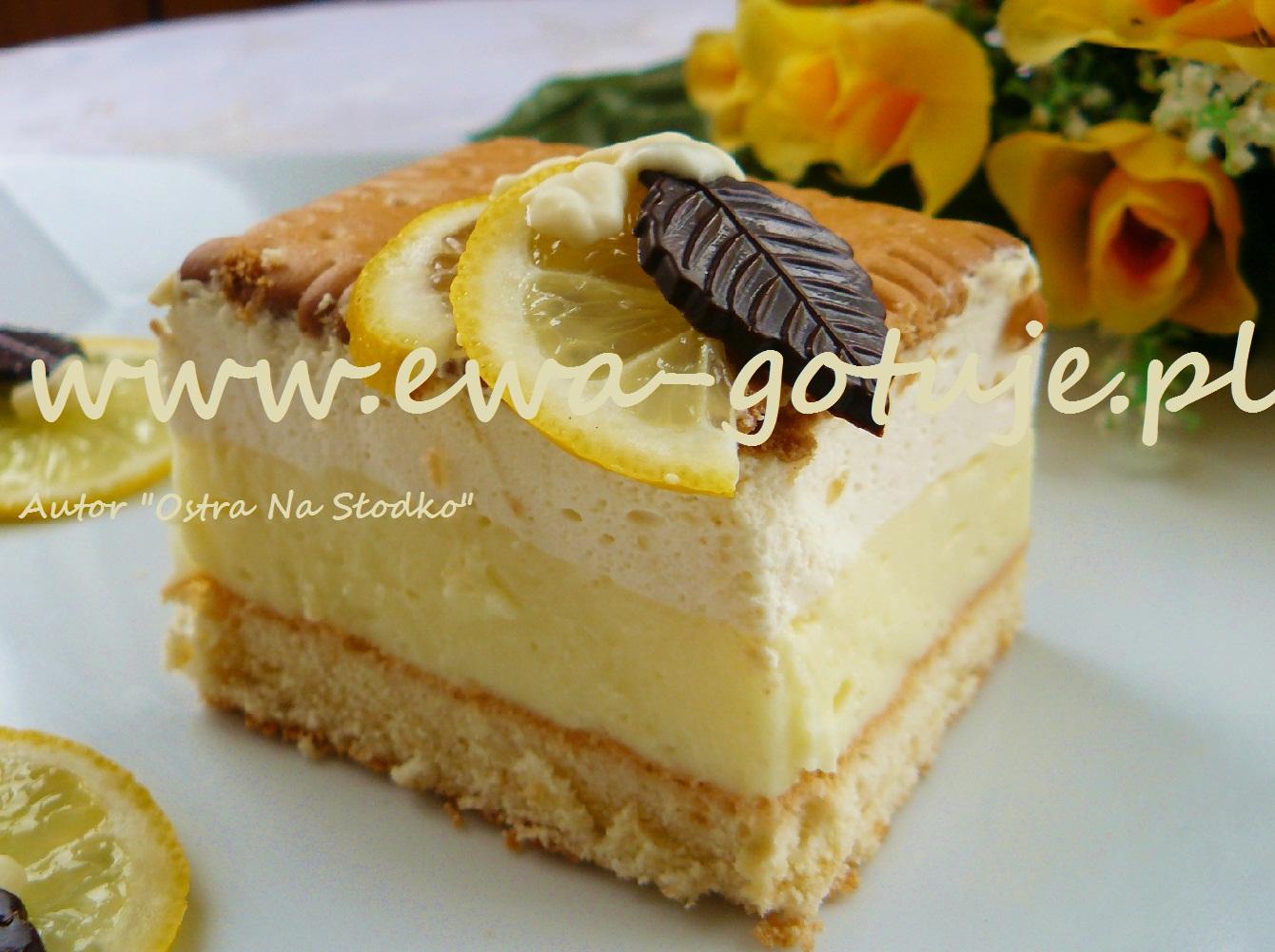 Ciasto Cytrynowe Z Orzezwiajacym Kremem Budyniowym Pyszny Przepis Na