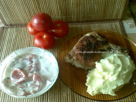 Dzi� z braku czasu zrobi�em na obiad bardzo proste, smaczne i szybkie w przyrz�dzeniu danie. Przedstawione proporcje s� dla jedn...