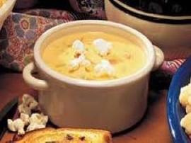 Pyszna pikantna i bardzo g�sta zupa serowa. Bulion gotujemy z mlekiem dodajemy serki topione i mieszamy a� si� rozpu�ci. Gdy zu...