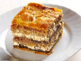 Ciasto serowo jab�kowo makowe