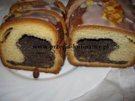 Smaczny świąteczny makowiec - rozpływająca się w ustach strucla makowa, pełna masy. Ciasto: Masło ucieramy z cukrem, dodajemy ...