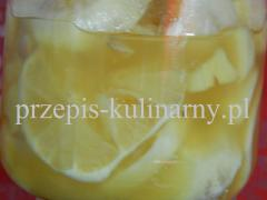 Nalewka z miodu cytryny i imbiru