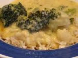 Kalafior i brokuł dzielimy na różyczki, obgotowujemy w osolonej wodzie na półtwardo. Marchewki kroimy w talarki, obgotowujemy ja...